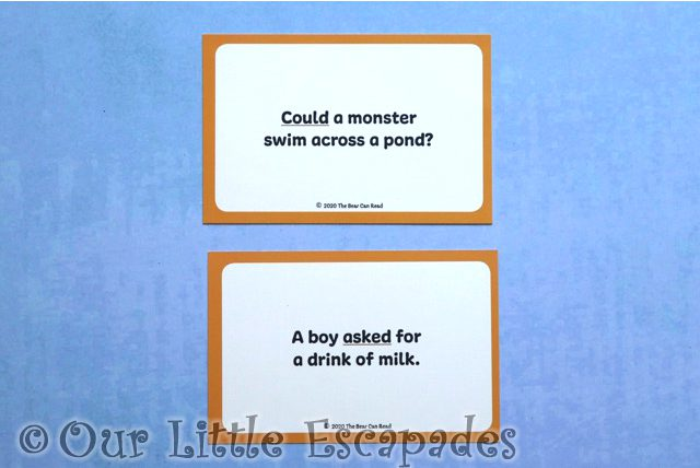 tricky sight word cards back