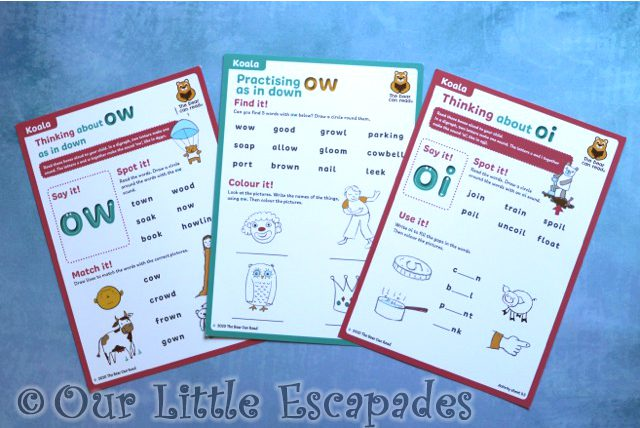 worksheets koala club