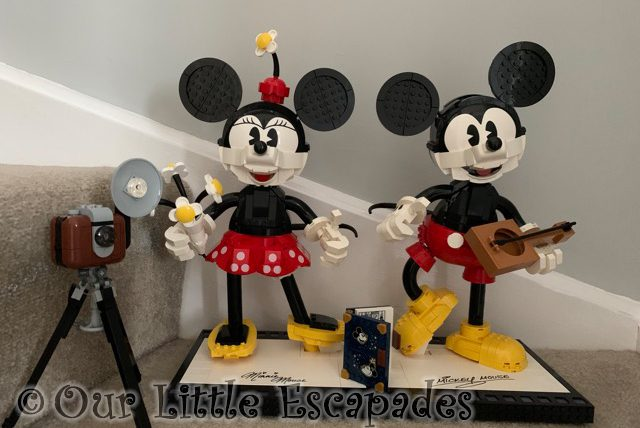 completed lego disney mickey mouse minnie mouse set