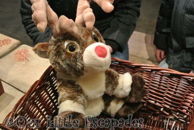 completed reindeer soft toy lapland uk superstar day