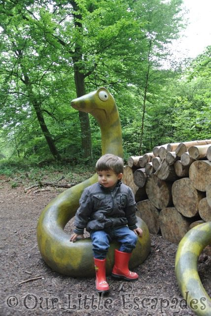 ethan sitting snake gruffalo hunting thorndon country park