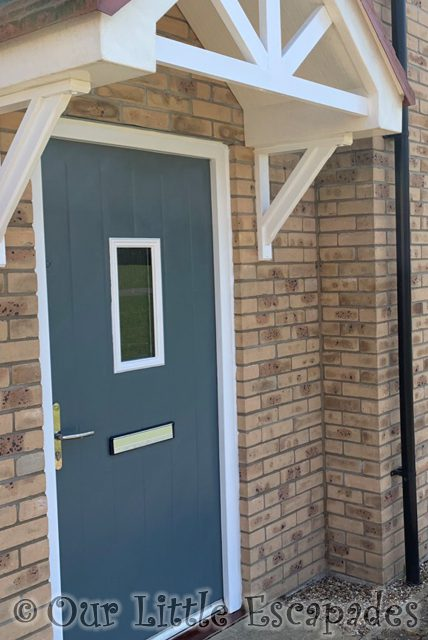 finished painted upvc front door