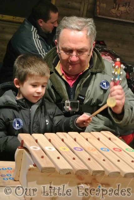grandpa ethan playing xylophone lapland uk superstar day