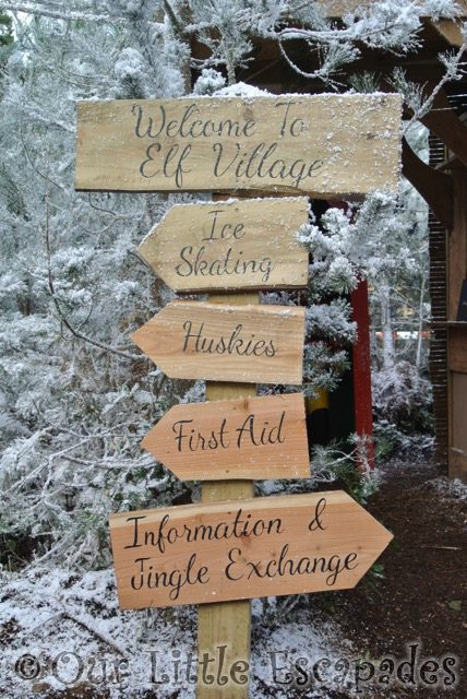 welcome to elf village signs