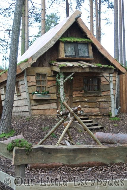 wooden forest elf house lapland uk superstar day
