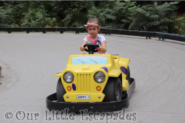 little e driving dippys raceway roarr dinosaur adventure