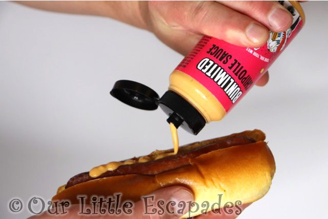 bunlimited chipotle sauce hot dog