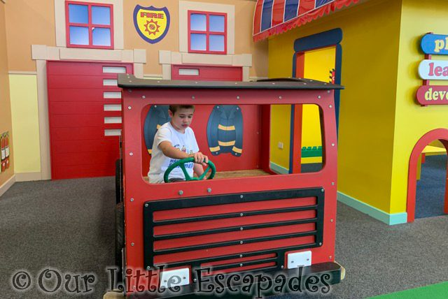 ethan driving fire engine