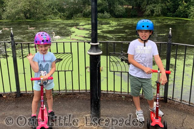 ethan little e scooters lake siblings August 2020