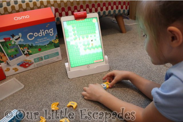 little e playing coding awbie learn coding with osmo review