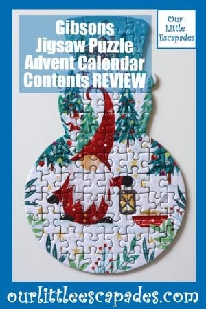 Gibsons Jigsaw Puzzle Advent Calendar Contents REVIEW
