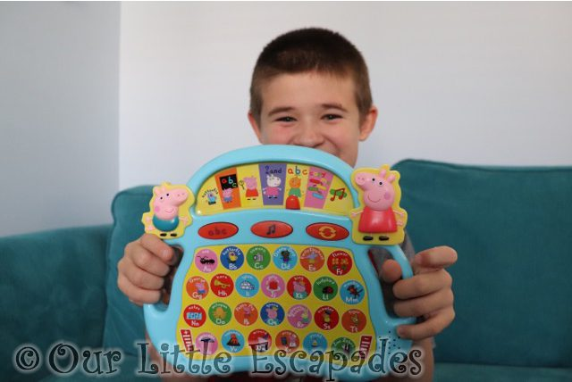 ethan peppa pig laugh learn alphaphonics learn with peppa pig electronic toys Gift Ideas for Toddlers