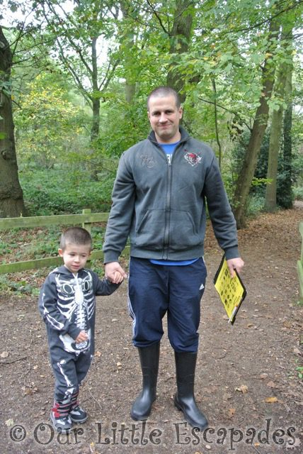 darren ethan skeleton onesie halloween walk highwoods country park