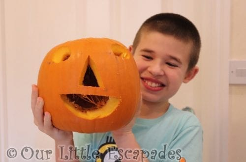 ethan finished jack-o-lantern