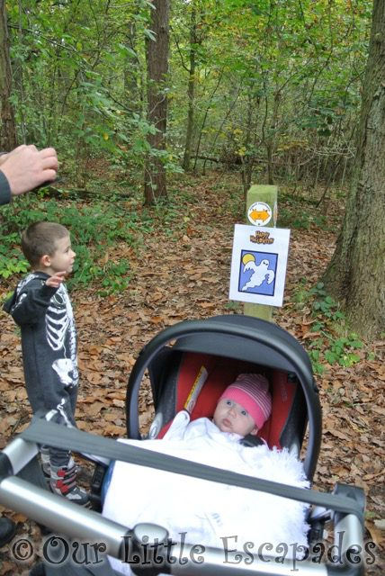 ethan little e ghost clue halloween walk highwoods country park