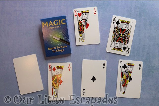 blanks to aces to kings card trick magic advent calendar