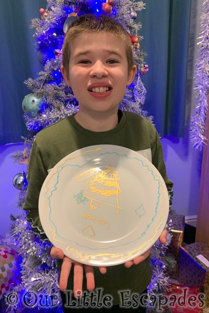 ethan fenwick christmas plate preparing for santas visit