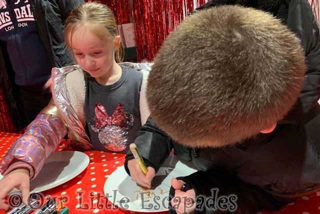 ethan little e decorating plates santas grotto fenwick