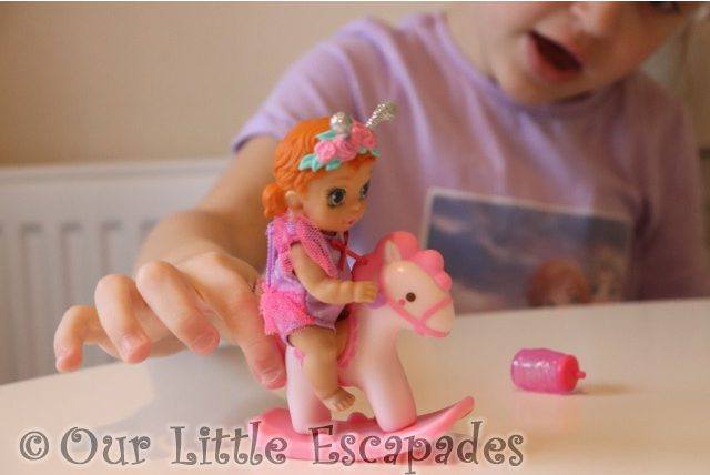 little e baby doll pink rocking horse