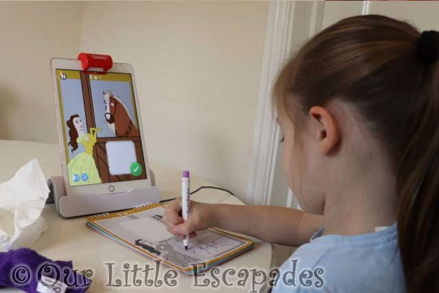 little e drawing philippe snack osmo super studio disney princess