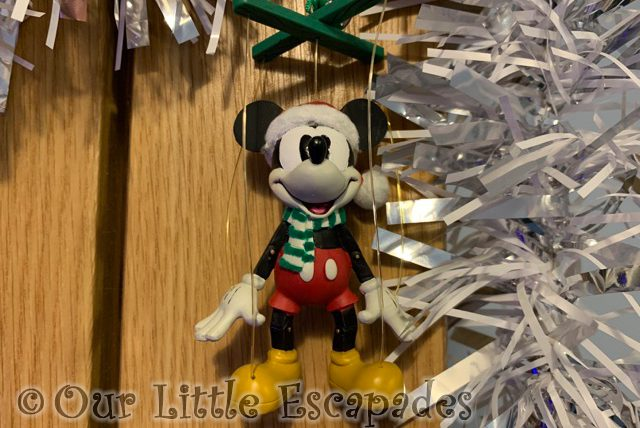 mickey mouse puppet christmas ornament