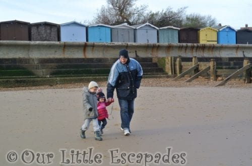 darren ethan little e holding hands walking frinton-on-sea beach