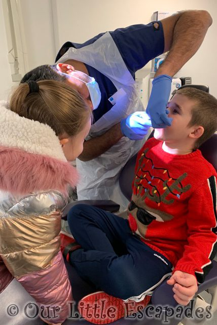 ethan dentist check up little e supporting December 2020