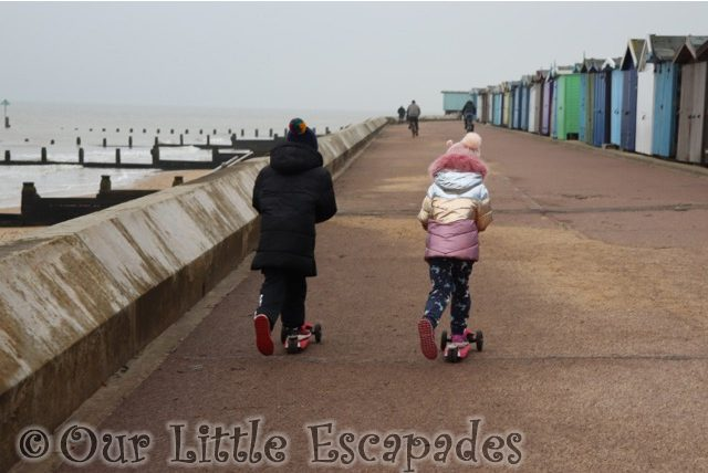 ethan little e scooters frinton-on-sea first walk of 2021