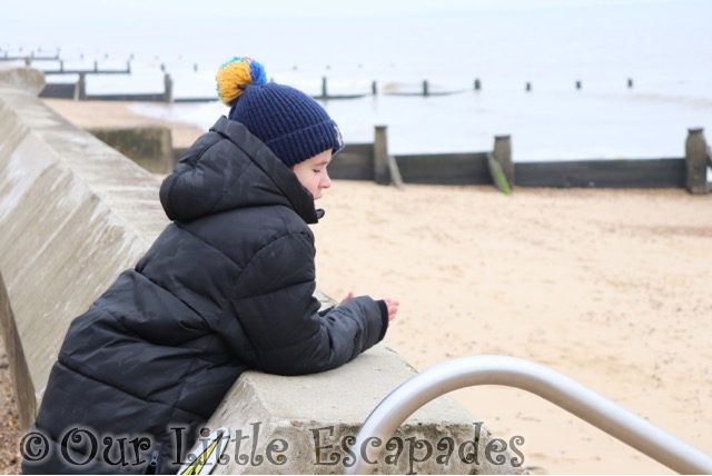 ethan looking at beach frinton-on-sea