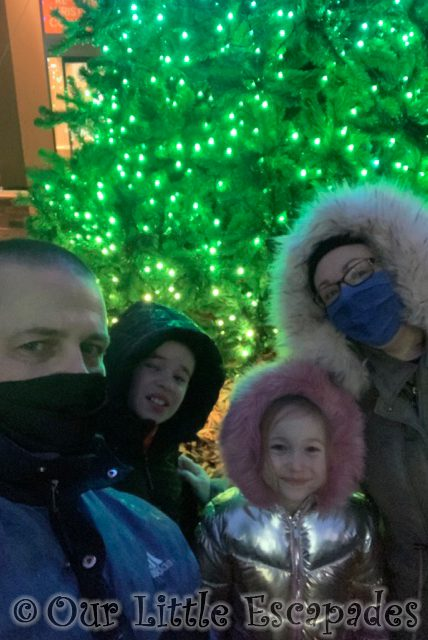 family selfie christmas tree colchester zoo