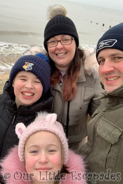 family selfie frinton-on-sea first walk of 2021
