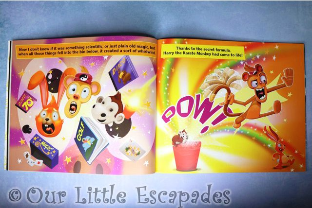 magic making harry come to life harry the karate monkey inside pages