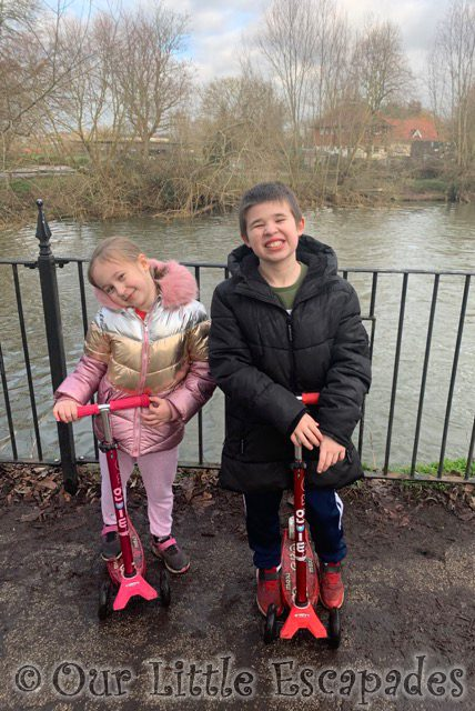 ethan little e scooters river February 2021