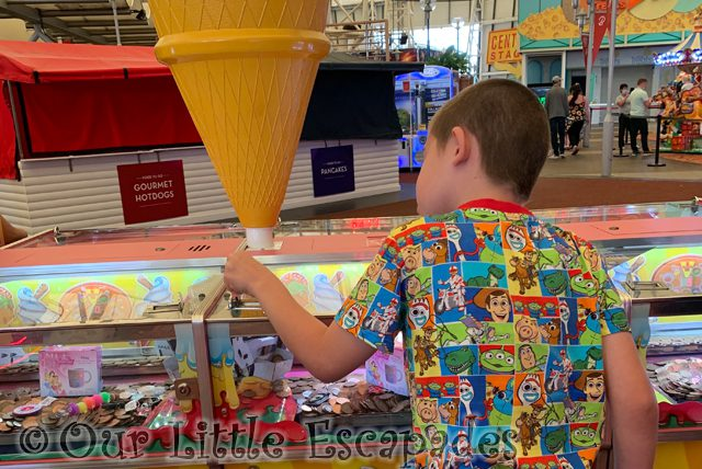 ethan penny machine amusement arcade First Family Holiday at Butlin's