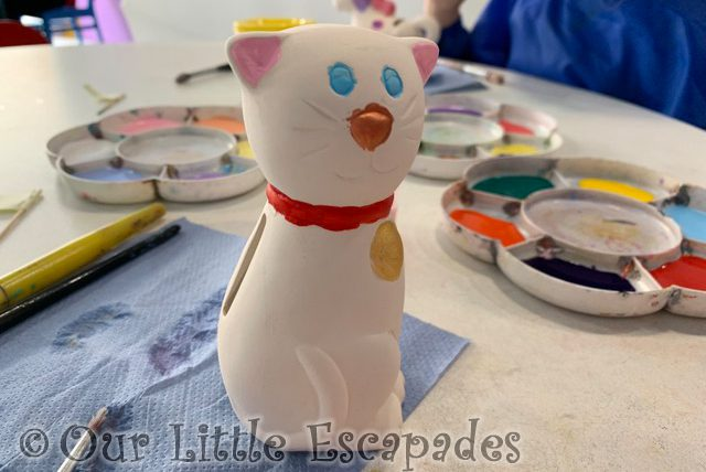 janes pottery cat pottery painting studio First Family Holiday at Butlin's