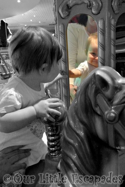 little e looking mirror carousel horse my sunday photo