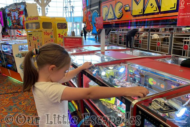 little e penny machine amusement arcade First Family Holiday at Butlin's