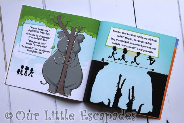 elephant hiding behind tree inner pages