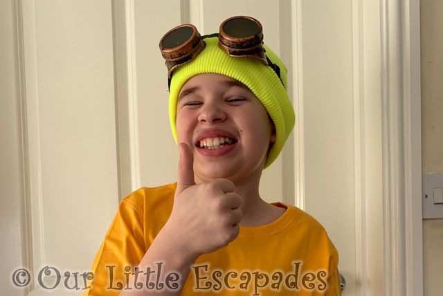 ethan dressing up as a minion