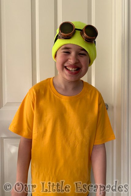 ethan minion fancy dress red nose day