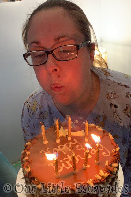 jane blowing out birthday cake candles 2021 Week 12