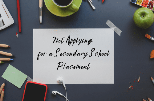not applying for secondary school placement