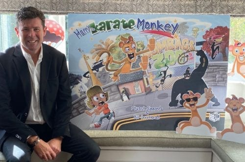 stuart simmonds harry the karate monkey poster