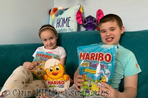 ethan little e haribo easter treats