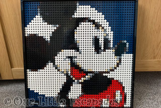mickey mouse lego art complete