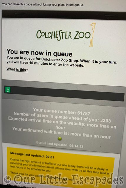colchester zoo internet ticket booking queue 2021 Week 19