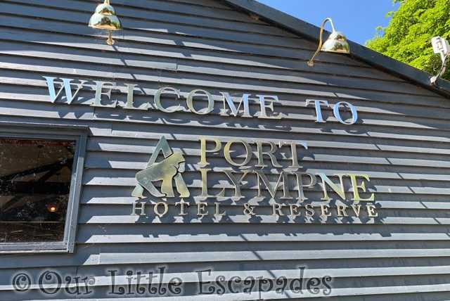 welcome port lympne hotel reserve sign