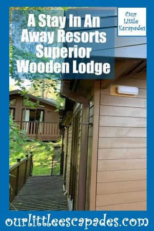 a stay in an away resorts superior wooden lodge