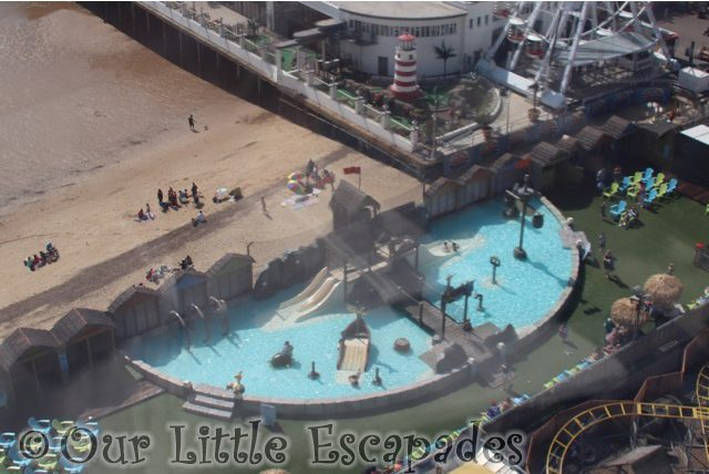 clacton pavilion water park view from anniversary wheel