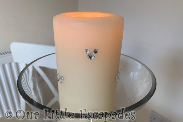disney unity candle crystal mickey mouse details